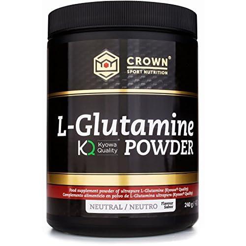 51NzWtyw%2BJL. SS500  - Crown Sport Nutrition L-Glutamine Kyowa® Quality, Sports Supplement, Neutral Taste Powder - 240 g