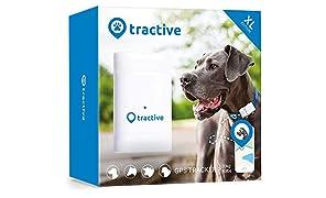 Tractive Localizador GPS XL para perros, batería dura hasta 6 semanas, rango ilimitado