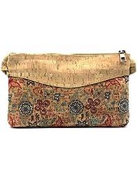 2e63b2bfe1 Borsa da donna a tracolla Butterflies. Accessorio originale in stoffa di  sughero con chiusura a cerniera e tasca…