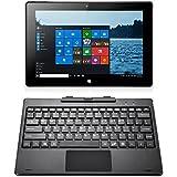 iRULU Walknbook 3 Notebook/Tablet 2-in-1 (W3), 10.1 pulgadas tableta PC, Windows 10, Intel Atom Z3735F,Quad Core, 2G RAM, 32GB Nand Flash, IPS 1280x800, Mini HDMI, Bluetooth, Teclado Desmontable Con Soporte, Cubierta de Metal, Gris