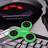 tritechnox™ - Tri Fidget Hand Spinner Toy,Stress Reducer Ultra Durable High Speed Ceramic Bearing Fidget Finger (Green black)