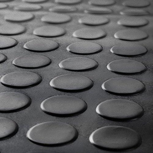 2m x 1m, schwarz geprägte Gummimatte für Garagenbodenbelag, 3mm Rolle | Matte geeignet für Fitnessstudio, stabil, Spielplatz etc., 200x 100cm