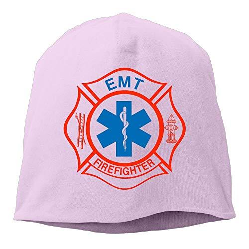 ghkfgkfgk EMT Firefighter Maltese Cross Fashion Unisex Hedging Cap Knitted Hat -