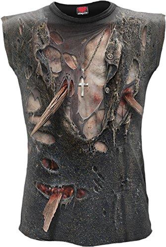 Spiral Zombie Wrap Tank Top Shirt Gothic Skelett Bones (Skelett Tank Top)