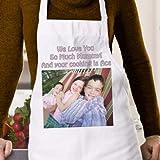 Personalizado delantal para mamá–impreso con una foto y mensaje especial