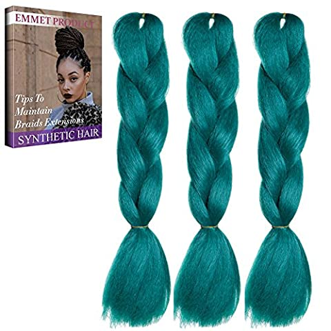 Jumbo Braids-Premium Qualität 100% Kanekalon Braiding Haarverlängerung Full Bundles 100g / pc Synthetik Haar Ombre 24Inch 3Pcs / lot Hitzebeständig, lange Zeit mit-37 Farben 2Tone & 3Tone, Garantie 1 Woche ändern oder Rückerstattung (Farbe 60)