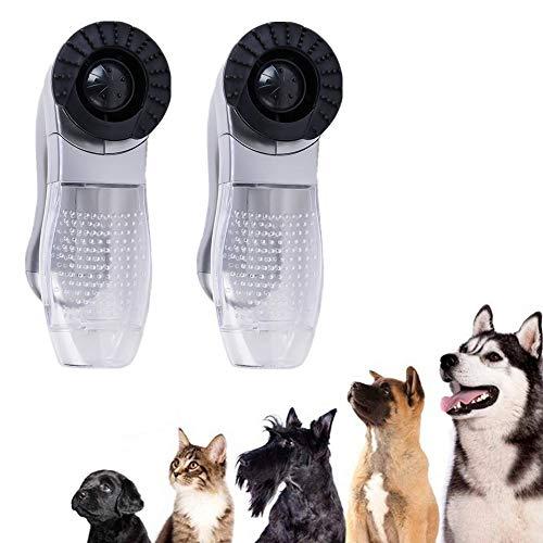 NOBGP 2 Paket Elektrische Haustier Haar Fell Entferner Katze Hundepflege Pinsel Kamm Haustier Staubsauger Tragbare Massage Staubsauger Trimmer Schuppen Pflege Pinsel Werkzeug -