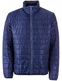 Timberland Mens Milford Jack Tim Quilted Jacket Navy - Zip - Elasticated Cuffs