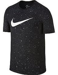 Nike M Nk Dry Tee Df Core Bm 1 Camiseta de Manga Corta de Baloncesto, Hombre, Negro (Black / Black / White), M