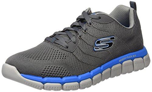 Skechers Flex 2.0, Chaussures Multisport Outdoor Homme Gris (Ccbl)