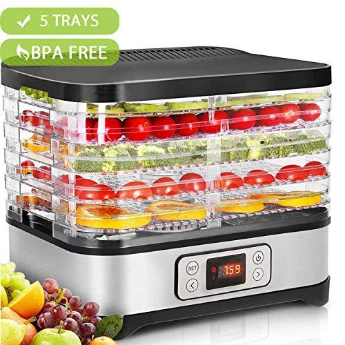 Hopekings Déshydrateur Alimentaire 250W avec Thermostat...