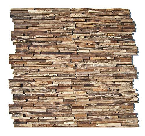 HO-M-006-1 Holzpaneele Teak-Holz Wandverblender Wanddesign Holzwand - Fliesen Lager Verkauf Stein-mosaik Herne NRW