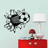 Ouneed 3D Bedroom Living Room Bedroom Removable Home Decoration Background Wall Sticker Outer Landscape (Black6)