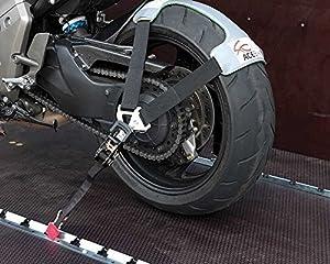 seguro motos: Set de correas para el transporte seguro de la moto en remolques y furgonetas Ty...
