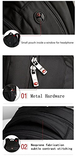 SEAGULL Black Laptop Backpack – Best Luggage Reviews 2017 9510ded001256