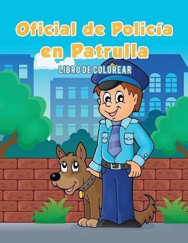 Oficial de Policía en Patrulla: Libro de colorear