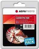 AgfaPhoto APCPGI5BDUOD Tinte für Canon IP4200, 53 ml, schwarz
