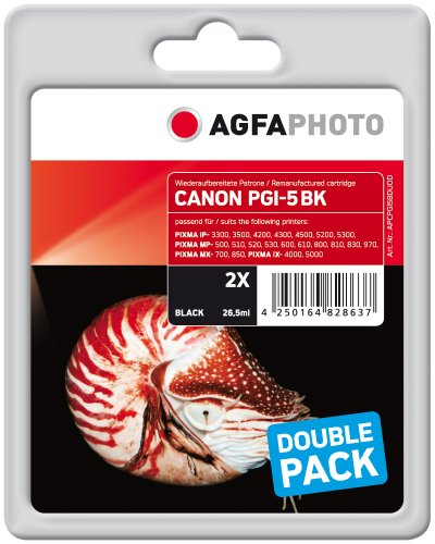 Preisvergleich Produktbild AgfaPhoto APCPGI5BDUOD Tinte für Canon IP4200, 53 ml, schwarz