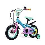 Bicyclette pour enfants de couleur 6-7-8-9-10 ans bébé fille bébé vélo 12/14/16 pouces ( Color : Blue , Size : 12 inches )