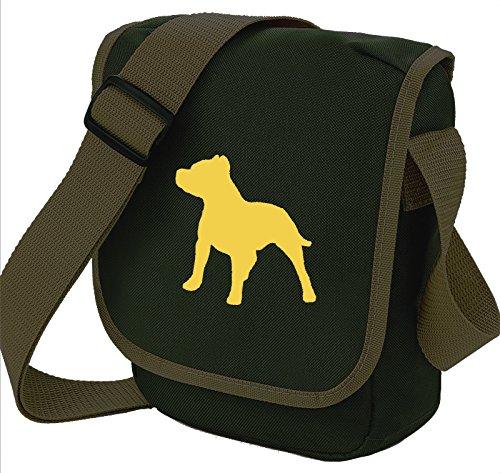 Bag Pixie, Borsa a spalla donna Fawn Dog on Olive