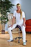 Kosmetik Arbeitshocker Massage Hocker Sattelform, höhenverstellbar, schwarz