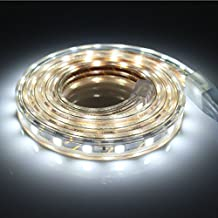 1M Tiras de LED con Interruptor, 5050 SMD, Alta Luminosidad Tiras LED Iluminación , IP65 Impermeable, Blanco