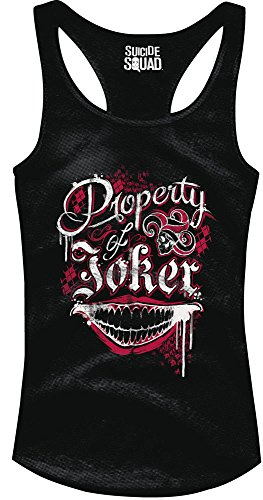 Suicide Squad Girlie Tank Top Property Of Joker Size S CODI shirts