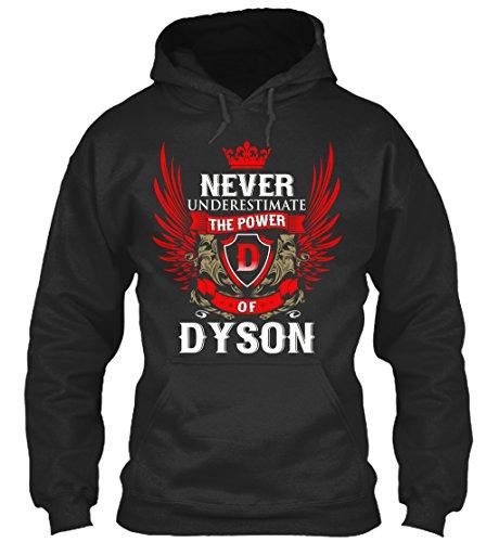 Preisvergleich Produktbild Bequemer Hoodie Damen / Herren / Unisex XL Never Under-Estimate Power of DYSON Schwarz