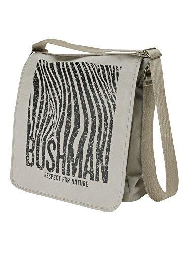 BUSHMAN Outdoor Freizeit Umhänge Tasche ALTAR Safari-Tasche im Zebrastyle in der Farbe Khaki oder Beige Beige