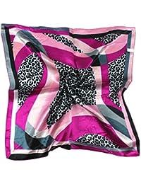 niceeshop(TM) Women Hipster Style Head Wrap Paisley Imitated Silk Badana, Red Black, 50x50cm/19.7x19.7inch