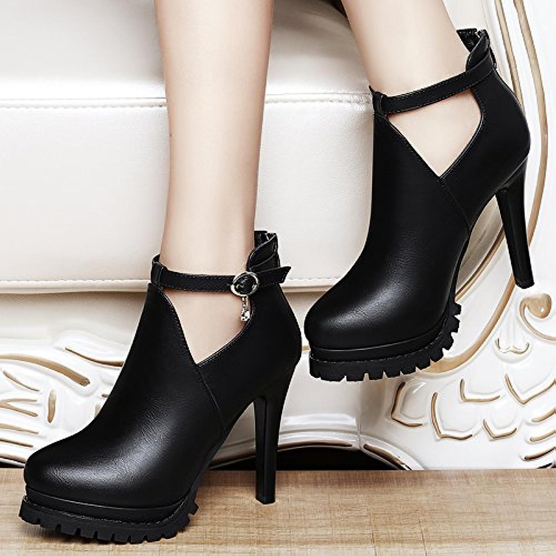HGTYU-11Cm Mesdames Chaussures Chaussures Chaussures Chaussures À Talon Chaussures Imperméables En Automne Et En Hiver Avec Un Bien...B078SJXMW4Parent f91206
