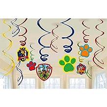 Paw Patrol - Accesorios decorativos para fiesta de cumpleaños, diseño de Patrulla de Cachorros Perfecto para las fiestas de cumpleaños de los más pequeños.