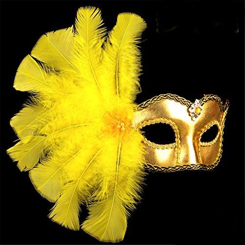 Halloween-Maske,die Maskerade-Schönheits-Prinzessin-Tanz-Feder-Malerei,goldenes tut (Zombies Halloween-gesicht-malerei Von)
