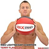 MAXSTRENGTH ® 8kg/10kg/12kg Heavy Duty Maya Leather Medicine Ball Fitness Gym Exercise.