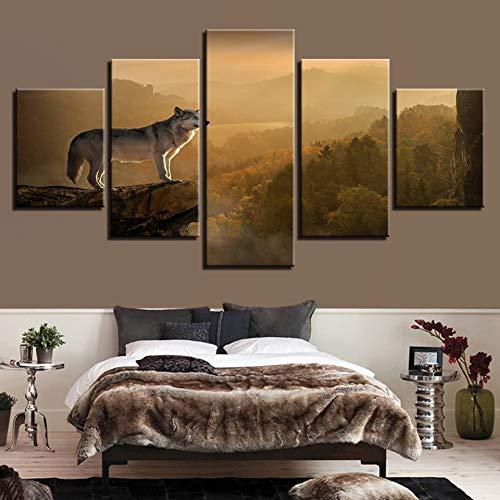 LovelyHomeWJ Fünf kleine bemalte Tierheim Schlafzimmer Dekoration Gemälde auf dem Gipfel des Tieres 20x35cm2 20x45cm2 20x55cm1 -