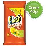 Flash à et Go citron Lingettes de nettoyage (Lot de 10, Total 400)
