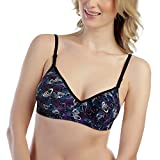 Tweens Women's Purple Printed Full Coverage Padded T-Shirt Bra