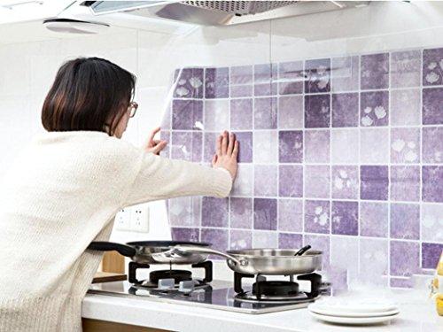 Transer® Küche Tapete Ölbeständige wasserdichte hitzebeständige  Wandaufkleber für Schlafzimmer Wohnzimmer Badezimmer Zimmer Dekor  Selbstklebende ...