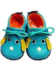 C2BB - C2BB - Chaussures premiers pas cuir souple garçon   Mr shoes bleu