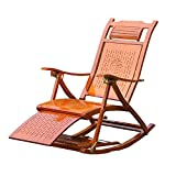 LHA Bambus Schaukelstuhl Klappstuhl Balkon Frei Stuhl Stuhl Alter Stuhl Freizeit Erwachsene Nap Stuhl Startseite Sommer Kühlen Stuhl