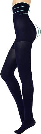 CALZITALY Collant Modellanti a Vita Alta Coprenti   Calze Total Shaper, Push Up e Control Body   S, M, L, XL, XXL   Nero, Blu   80 DEN   Made in Italy