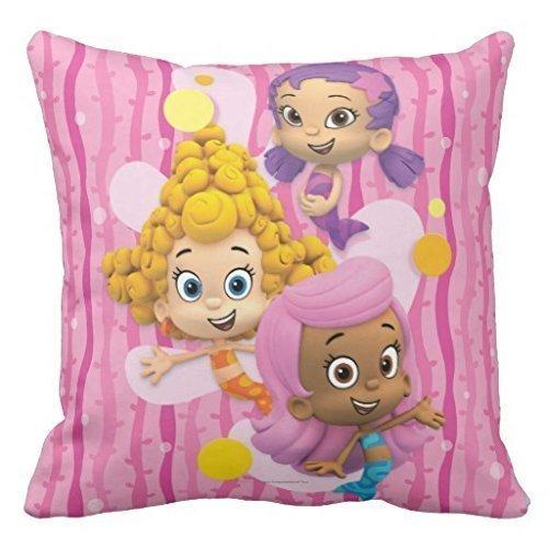 B Lyster Shop Bubble Guppy Mädchen # 238W Baumwolle & Polyester Soft Reißverschluss Kissen Werfen Fall Kissen Schutzhülle -