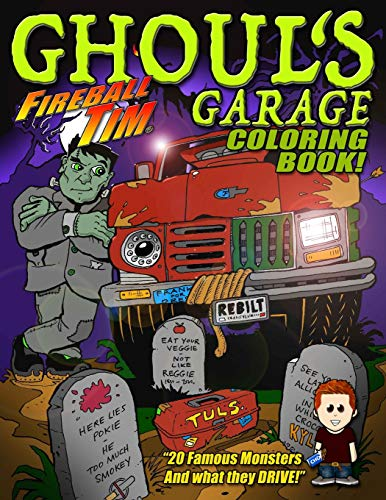 GARAGE Halloween Coloring Book: 20 Famous Monsters to Color... and what they DRIVE! ()