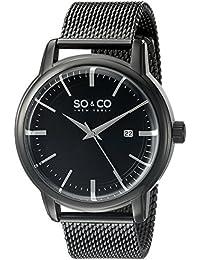 SO & CO New York Madison 5207.4 - Reloj de pulsera Cuarzo Hombre correa deAcero inoxidable Negro