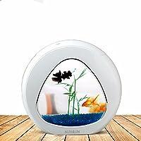 Creative illuminazione LED scrivania, mini pesce serbatoio acquario con sistema di filtrazione ,YA-02 rosa - Acquario Sistema Di Illuminazione