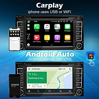 Ohok-7-Zoll-Bildschirm-2-Din-Autoradio-Android-90-Pie-Octa-Core-4G32G-Radio-mit-Navi-Moniceiver-DVD-GPS-Navigation-Untersttzt-Bluetooth-WLAN-DAB-fr-VW-TouaregTransporterT5-Multivan
