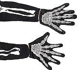 Smiffys Déguisement Enfant, Gants en forme de mains de squelette, 22276