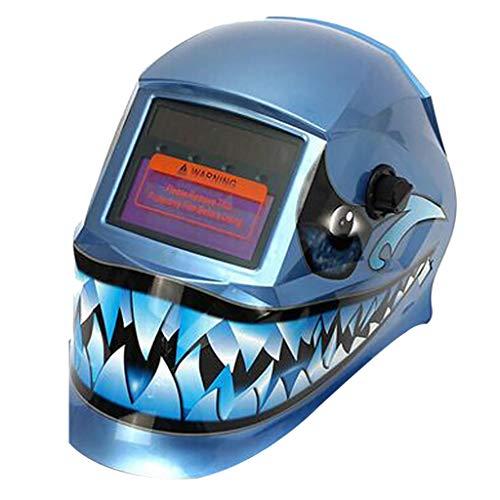 FBGood Automatik Schweißhelm,Solar Auto Darkening Schweißhelm Maske Großes Sichtfeld Professionelle Haube Schweißschirm Schutzhelm Gegen Funken, Strahlungen Carbon (B)
