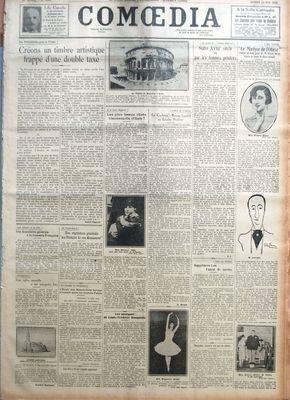 COMOEDIA [No 4889] du 15/05/1926 - LES P...
