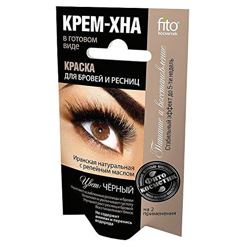 fitocosmetic Wimpern- und Augenbrauenfarbe Henna Creme Farbton: Schwarz